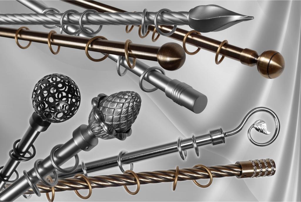 Metaliniai karnizai Ø16mm atskiromis detalemis