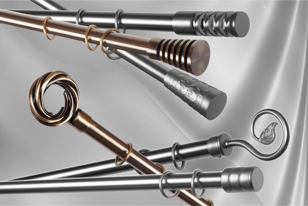 Metaliniai karnizai Ø19mm atskiromis detalėmis 1