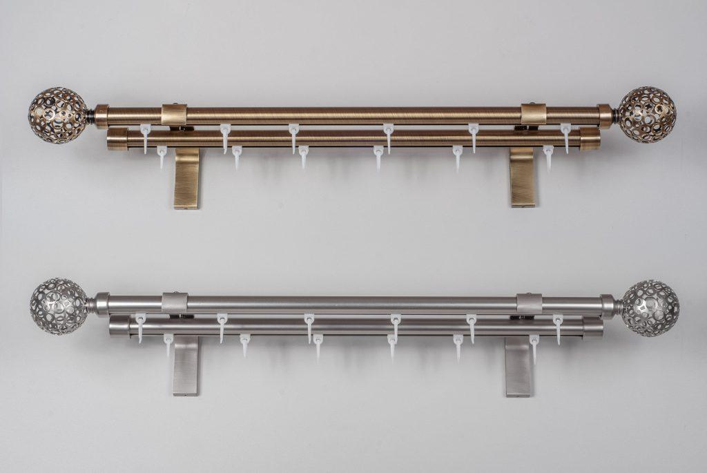 Metaliniai karnizai ASPEN Ø19mm atskiromis detalėmis
