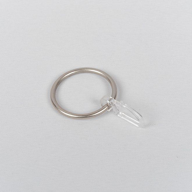 Žiedai karnizui CLASSIC Ø25mm su kabliukais šv. mat. sidabro sp.
