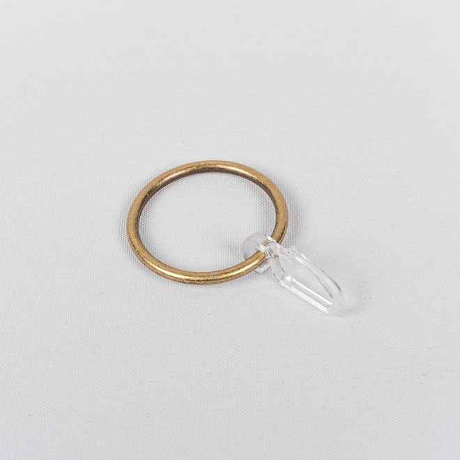 Žiedai karnizui CLASSIC Ø25mm su kabliukais šv. send. aukso sp.