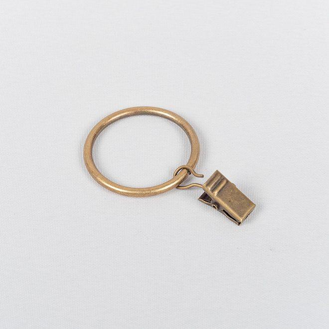Žiedai karnizui CLASSIC Ø25mm su segtukais šv. send. aukso sp.