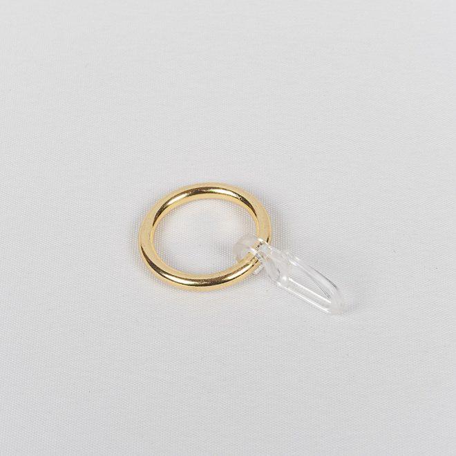 Žiedai karnizui CLASSIC su kabliukais Ø16mm blizg. aukso sp.