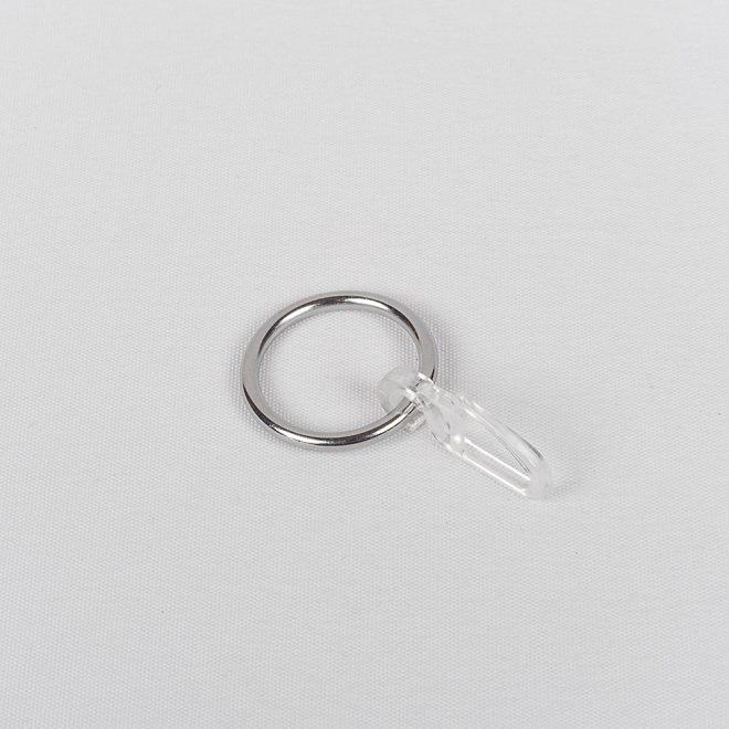 Žiedai karnizui CLASSIC su kabliukais Ø16mm blizg. sidabro sp.