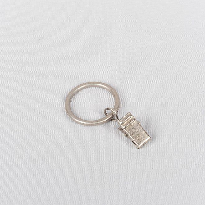 Žiedai karnizui CLASSIC su segtukais Ø16mm šv. mat. sidabro sp.