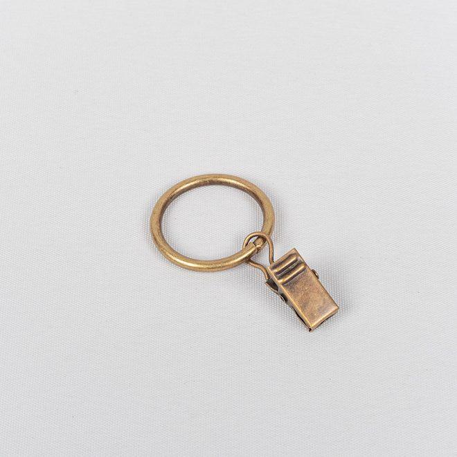 Žiedai karnizui CLASSIC su segtukais Ø16mm šv. send. aukso sp.