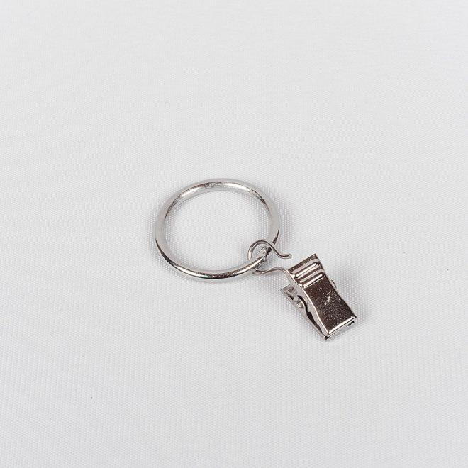 Žiedai karnizui CLASSIC su segtukais Ø16mm blizg. sidabro sp.