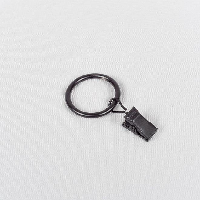 Žiedai karnizui CLASSIC su segtukais Ø16mm juodos sp.