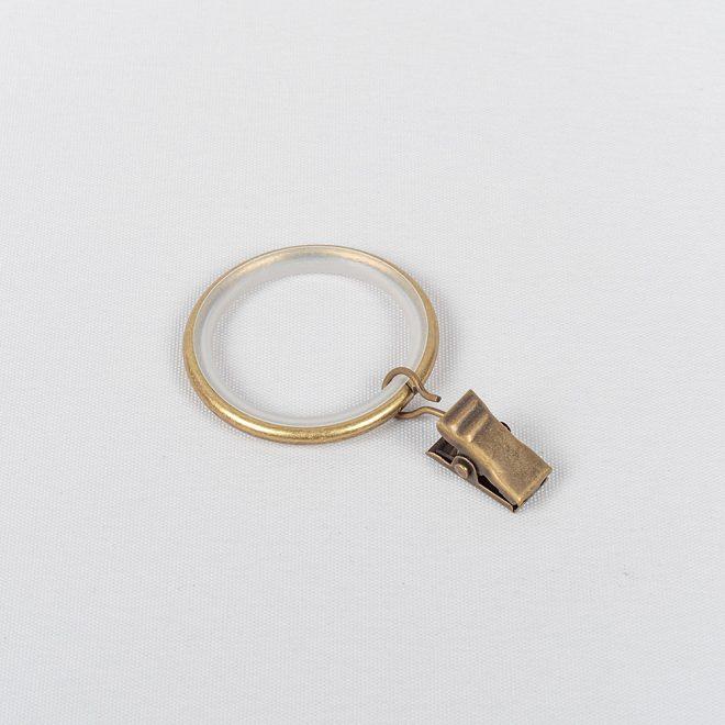 Žiedai karnizui MODERN su segtukais Ø16mm šv. send aukso sp. 1