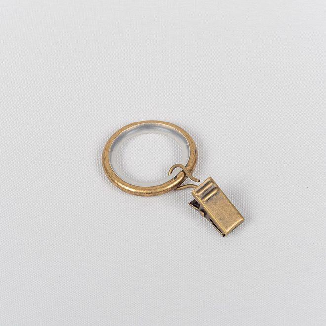 Žiedai karnizui MODERN su segtukais Ø16mm šv. send aukso sp.
