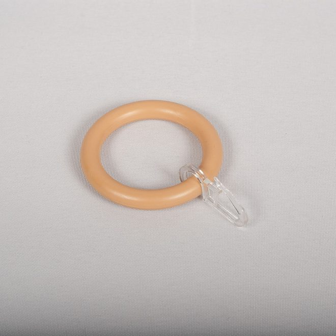 Žiedai karnizui STANDART Ø28mm pl. su kabliukais buko sp.