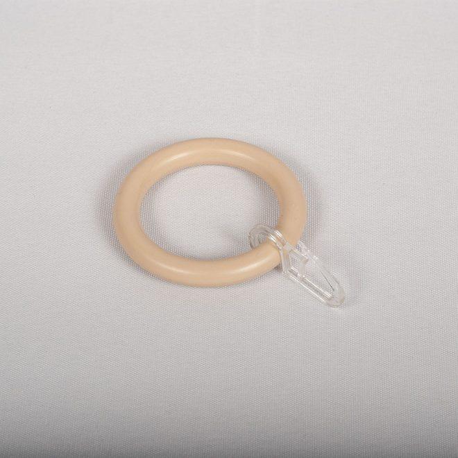Žiedai karnizui STANDART Ø28mm pl. su kabliukais pušies sp.