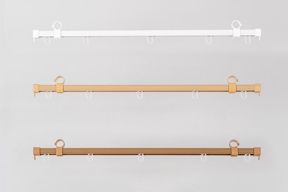 Bėgeliai metaliniai sukomplektuoti Ø28mm karnizams