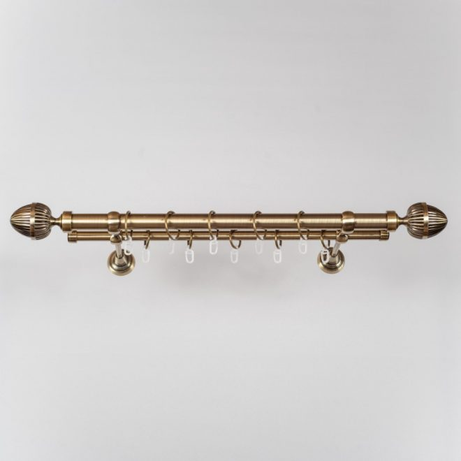 Karnizas ODE PICOLO Ø25 16mm dvigubas šv. send. aukso sp. 1