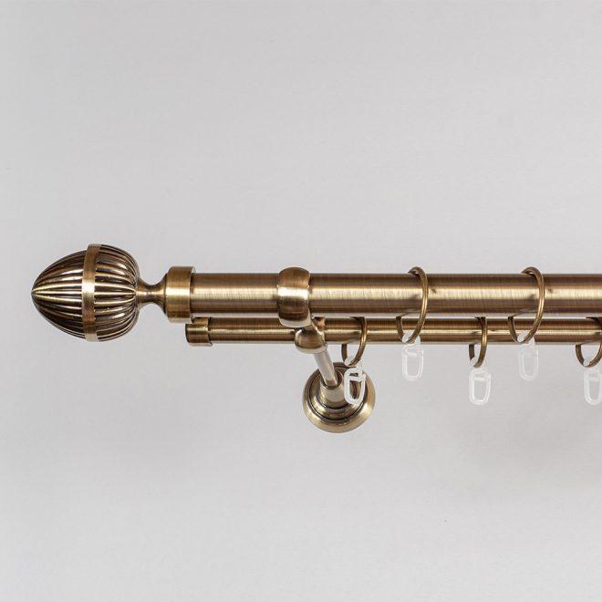 Karnizas ODE PICOLO Ø25 16mm dvigubas šv. send. aukso sp. 2