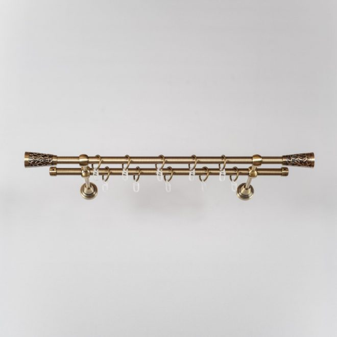 Karnizas SEVILLA PICOLO Ø16mm dvigubas šv. send. aukso sp. 1