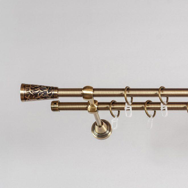 Karnizas SEVILLA PICOLO Ø16mm dvigubas šv. send. aukso sp. 2