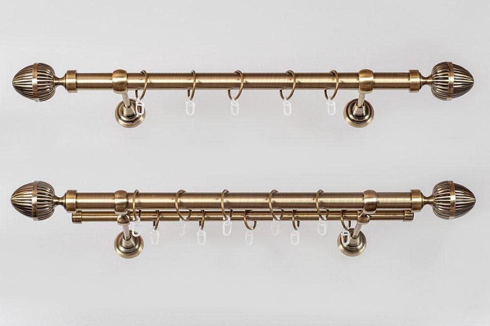 Metaliniai Ø19mm sukomplektuoti karnizai ODE