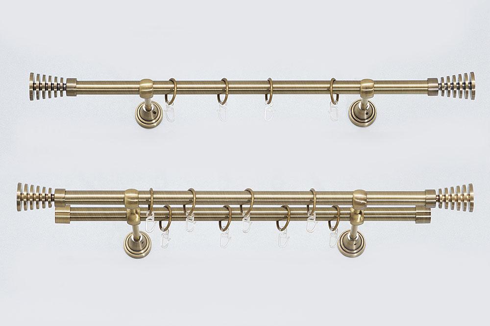 Metaliniai Ø19mm sukomplektuoti karnizai WIEZA