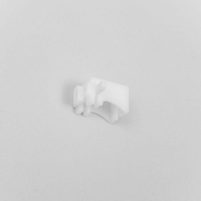 Tvirtinimo laikiklis plast. L 3cm profiliui baltos sp. Nr.TK 4030