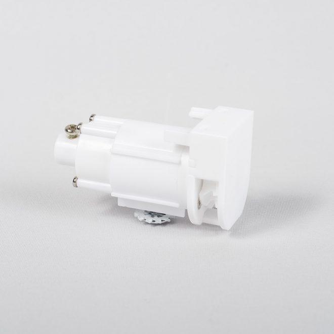 Užbaigimo pakelimo mechanizmas grandinėlei 1:4 universalus plast. baltos sp. Nr. 11.1013