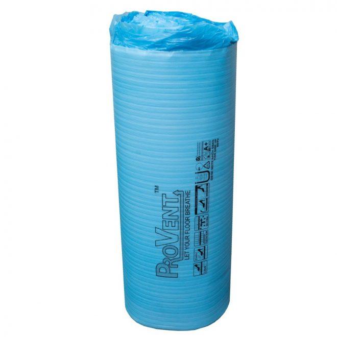 Paklotas PROVENT grindų dangai reljefiniu pagrindu su hidroizoliacine plėvele tinka šildomoms grindims mėlynos sp.