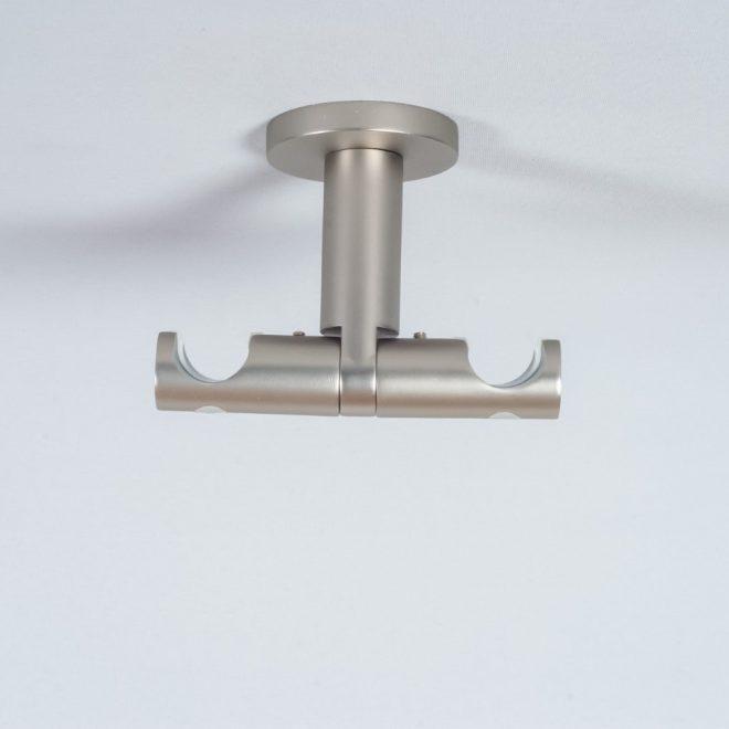 Laikiklis karnizui ASPEN NOVA L7cm Ø19 19mm į lubas dvigubas šv. mat. sidabro sp. 1
