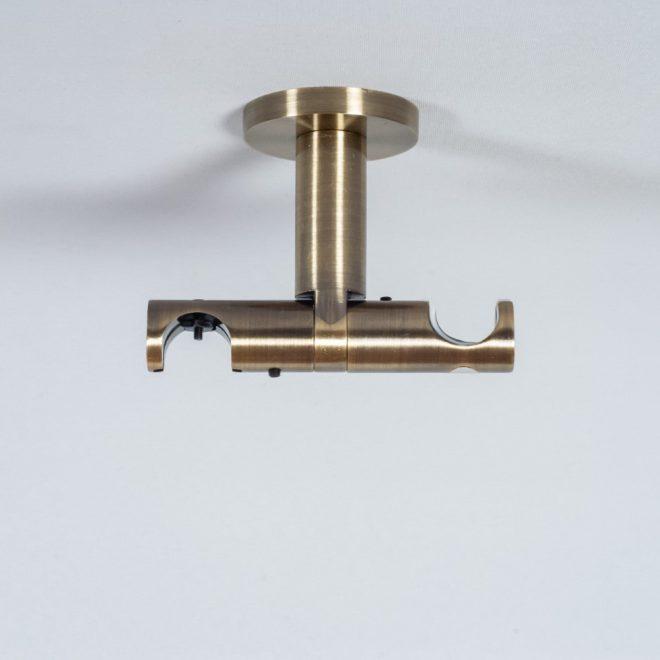Laikiklis karnizui ASPEN NOVA L7cm Ø19 19mm į lubas dvigubas šv. send. aukso sp. 2