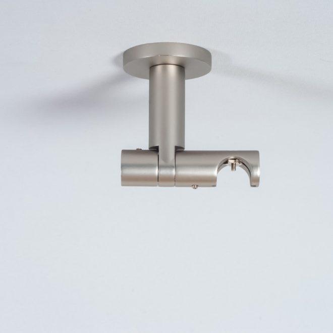Laikiklis karnizui ASPEN-NOVA H8,5cm L8cm Ø19mm į lubas viengubas šv. mat. sidabro sp.