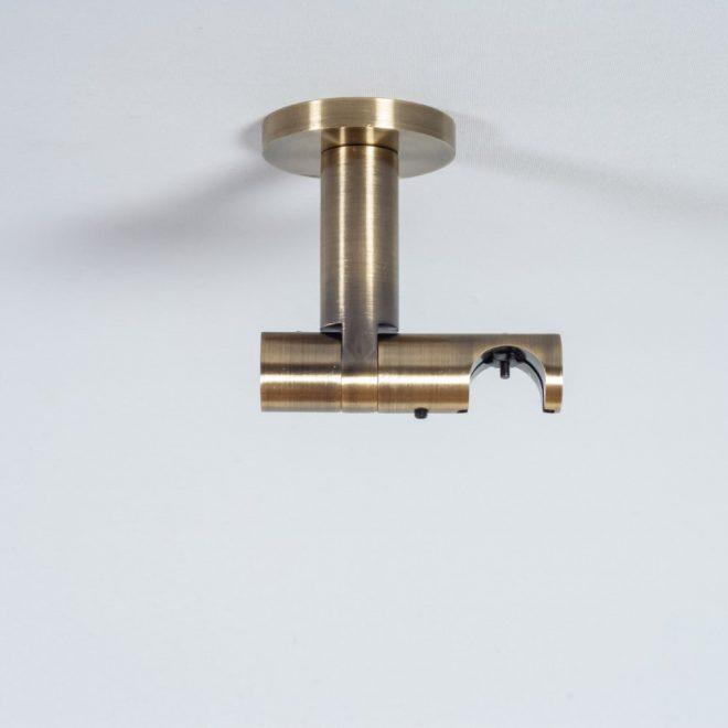 Laikiklis karnizui ASPEN-NOVA H8,5cm L8cm Ø19mm į lubas viengubas šv. send. aukso sp.