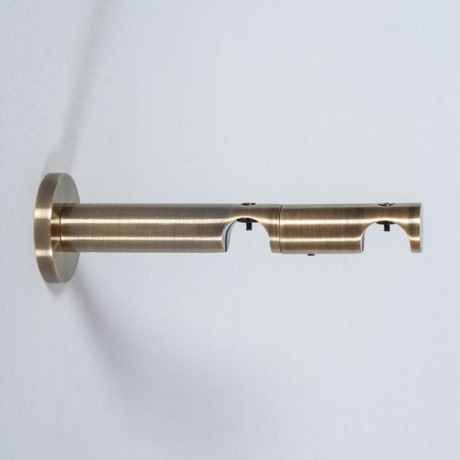 Laikiklis karnizui ASPEN-NOVA L10,5-16,5cm Ø19-19mm dvigubas šv. send. aukso sp.