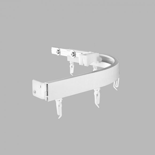 Lenktas kampas 90 laipsnių kampu L20X20cm universalus sukomplektuotas baltos sp. Nr. TK 90