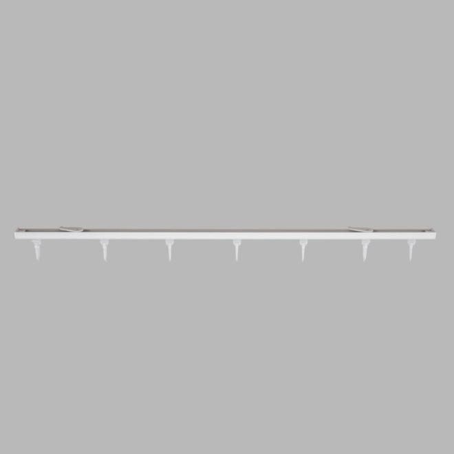 Aliuminio sistema D PROFILIS sukomplektuotas baltos sp..