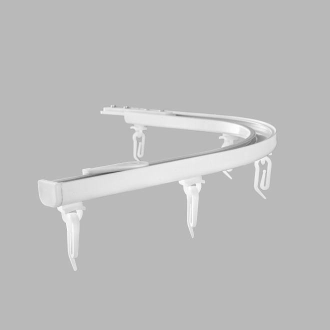 Lenktas kampas 90 laipsnių L20X20cm universalus sukomplektuotas baltos sp. Nr. AP 04