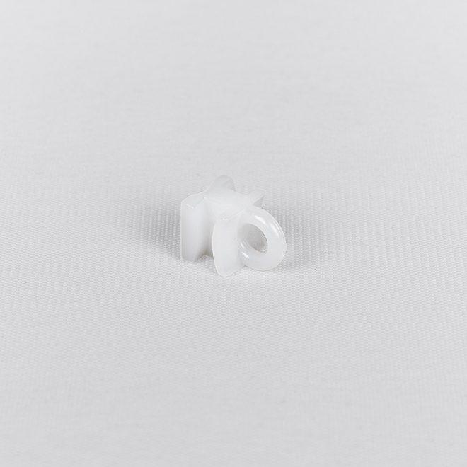 Plast. slankiojanti kilputė kabliukui ir met. segtukui baltos sp. Nr.10665