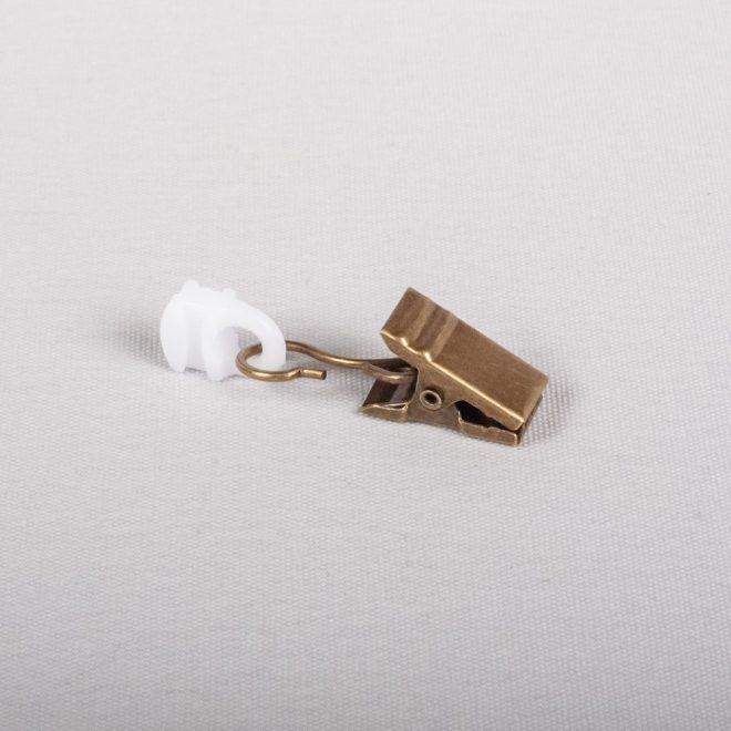 Plast. slankiojanti kilputė su metaliniu segtuku šv. send. aukso sp. Nr. A 338