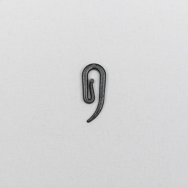 Plast. viengubas kabliukas slankiojančiai kilputei juodos sp. Nr. 750