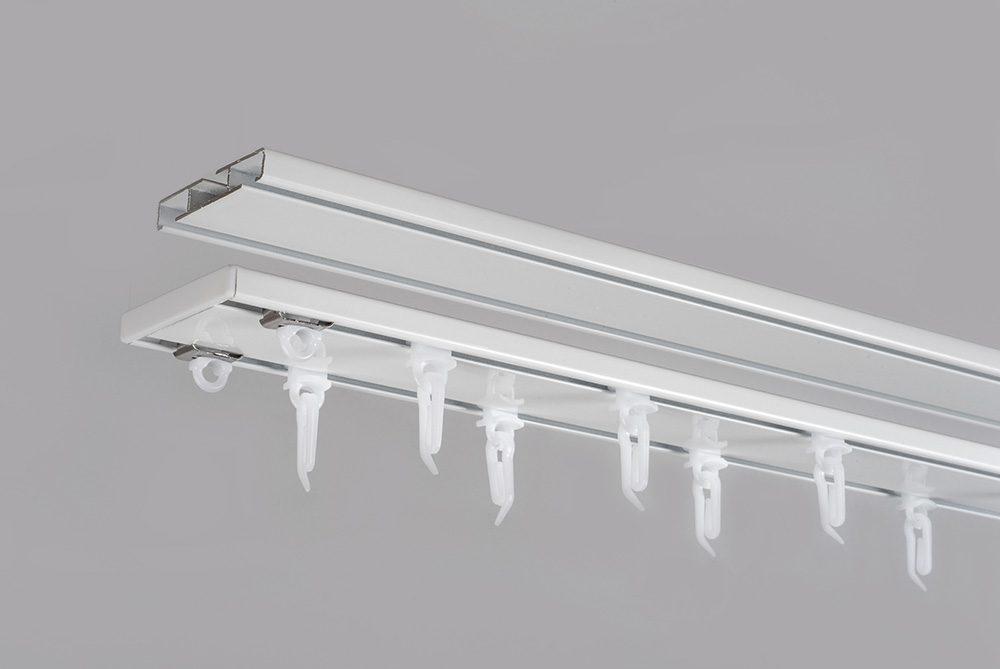 Aliuminio sistema UNIVERSAL PROFILIS 1 ir 2 bėgelių sukomplektuotas baltos sp.