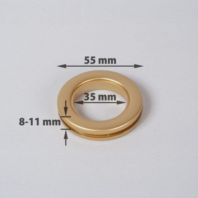 Žiedas suspaudžiamas užuolaidoms UNIVERSAL karnizo vamzdžiui Ø25-28mm mat. aukso sp.