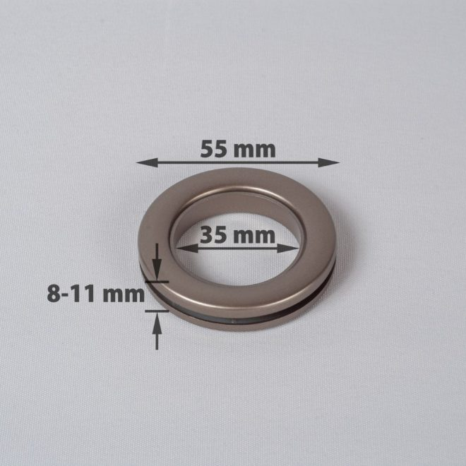 Žiedas suspaudžiamas užuolaidoms UNIVERSAL karnizo vamzdžiui Ø25-28mm platino sp.