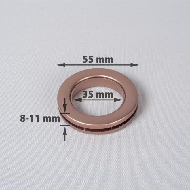 Žiedas suspaudžiamas užuolaidoms UNIVERSAL karnizo vamzdžiui Ø25-28mm vario sp.