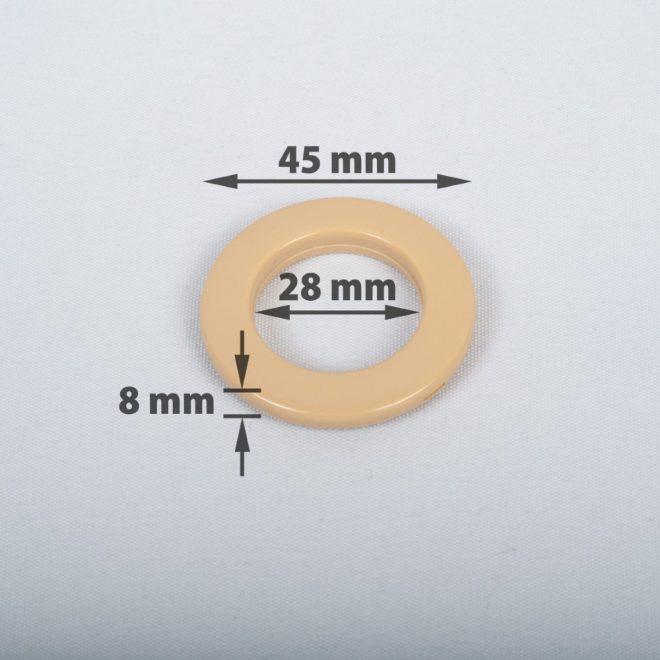 Žiedas suspaudžiamas užuolaidoms karnizo vamzdžiui Ø16-20mm šv. rudos sp.