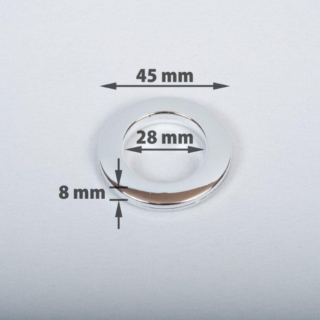 Žiedas suspaudžiamas užuolaidoms karnizo vamzdžiui Ø16-20mm blizg. chromo sp.