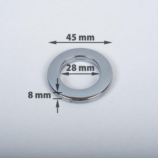 Žiedas suspaudžiamas užuolaidoms karnizo vamzdžiui Ø16-20mm titano sp.