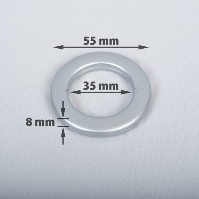 Žiedas suspaudžiamas užuolaidoms karnizo vamzdžiui Ø25-28mm mat. chromo sp.