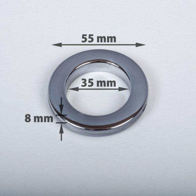 Žiedas suspaudžiamas užuolaidoms karnizo vamzdžiui Ø25-28mm titano sp.